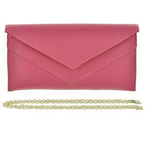 Fuchsia Leatherette Evening Bag